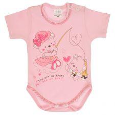 Body niemowlęce krótki rękaw różowe