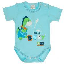 Body niemowlęce krótki rękaw turkus