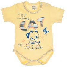 Body niemowlęce krótki rękaw żółte