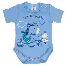 Body niemowlęce z krótkim rękawem niebieskie