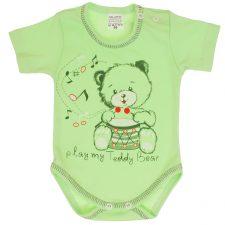Body niemowlęce krótki rękaw zielone