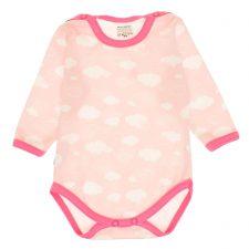 Body niemowlęce różowe chmurki