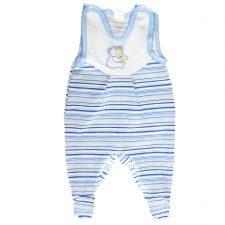 Śpioch niemowlęcy z haftem – niebieski