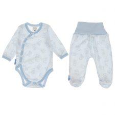 Komplet niemowlęcy niebieski miś