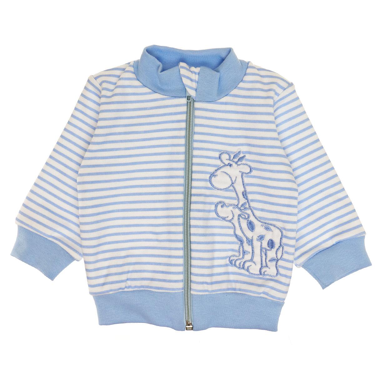 Bluza w paseczki niebieska żyrafka
