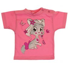 Bluzeczka krótki rękaw różowa