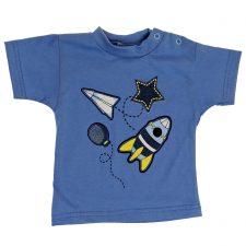 Bluzeczka krótki rękaw niebieska