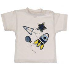 Bluzeczka krótki rękaw biała dla chłopca