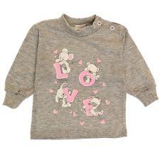 Bluzeczka szara dla dziewczynki