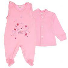 Komplet niemowlęcy różowy