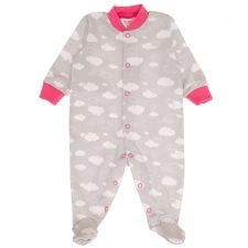 Pajacyk niemowlęcy chmurki dla dziewczynki