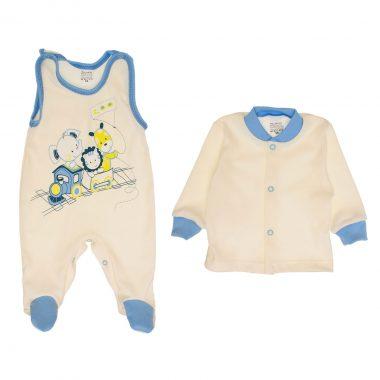jasno niebieski komplet niemowlęcy