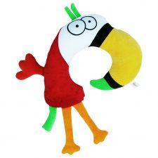 Niemowlęca zabawka rogal Papuga