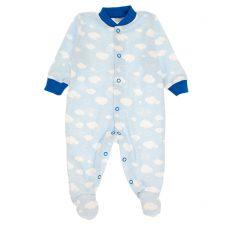 Pajacyk niemowlęcy niebieskie obłoczki