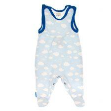 Śpioszki niemowlęce niebieskie chmurki