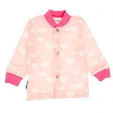 Kaftanik niemowlęcy różowy chmurki