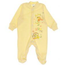 Pajacyk niemowlęcy sito żółty