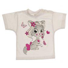 Bluzeczka krótki rękaw biała dla dziewczynki