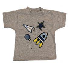 Bluzeczka krótki rękaw szara dla chłopca