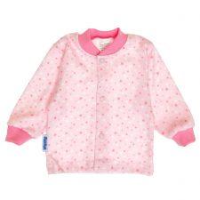 Kaftanik niemowlęcy różowe gwiazdki