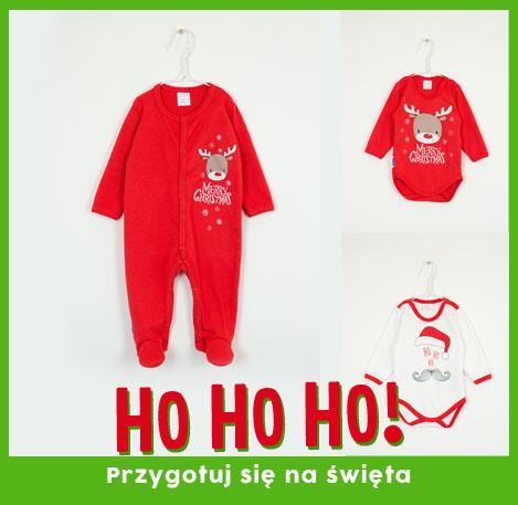 Swiateczne ubranak dla niemowlat