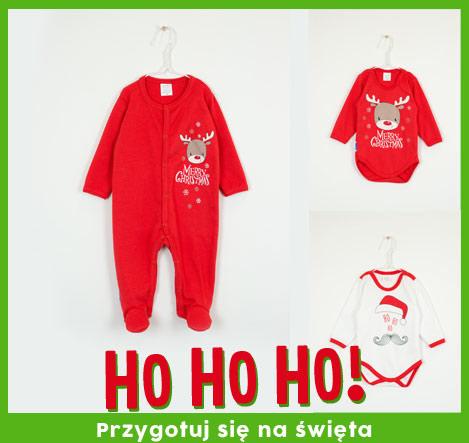 Świąteczne ubranka dla niemowląt