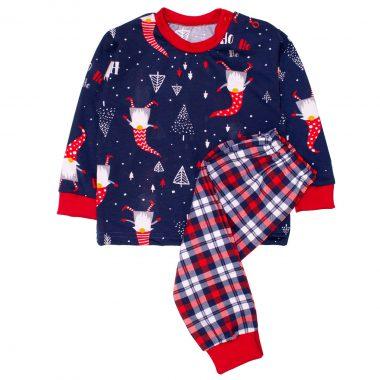 Piżamka niemowlęca świąteczna Mikołaje