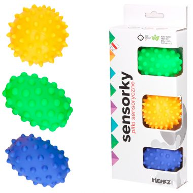 Piłki sensoryczne 3 sztuki