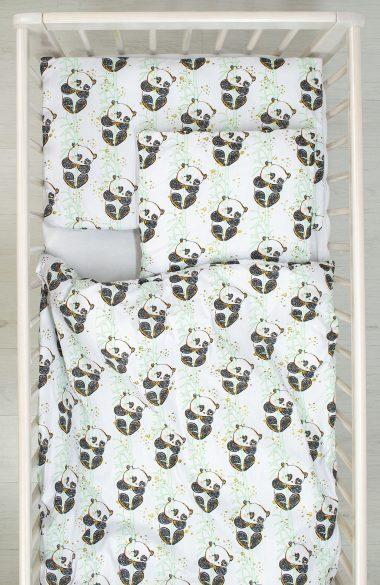 Pościel z wypełnieniem Panda na Bambusie Happy Bear