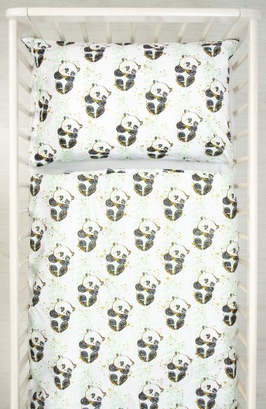 Pościel dwu częściowa Panda na Bambusie Happy Bear