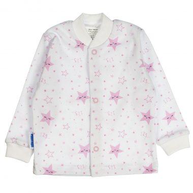 Kaftanik różowy Śpiące Gwiazdki