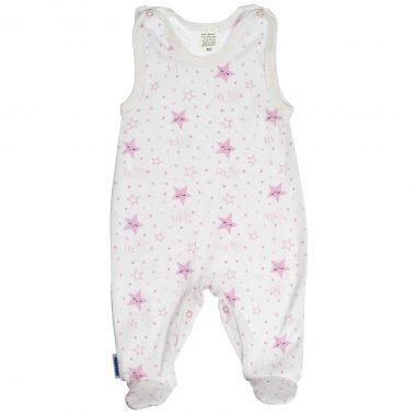 Śpioszek niemowlęcy różowy Śpiące Gwiazdki