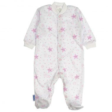 Pajacyk niemowlęcy różowy Śpiące Gwiazdki