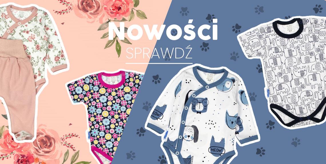 Ubranka dla niemowlat nowosci